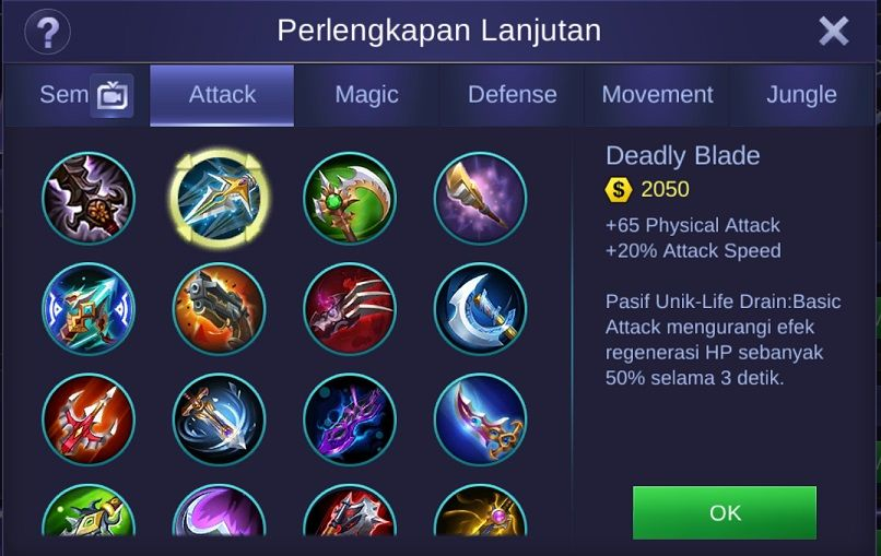 Deadly Blade Mobile Legends