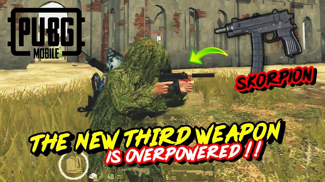 Senjata terbaru pubg mobile skorpion memang overpower