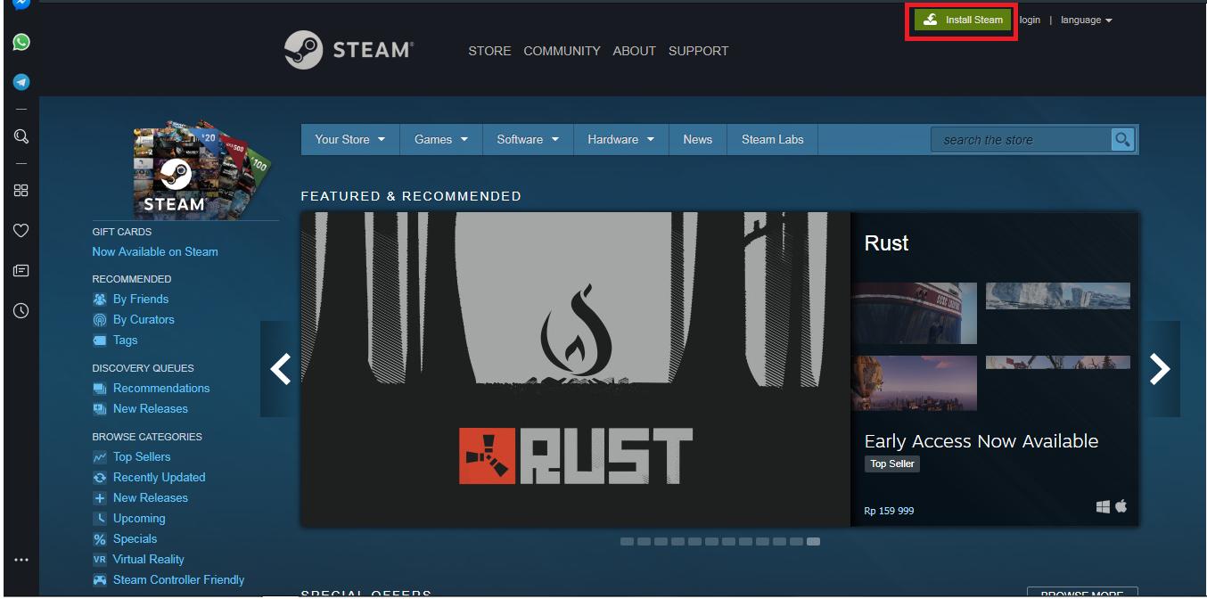 Steam installer