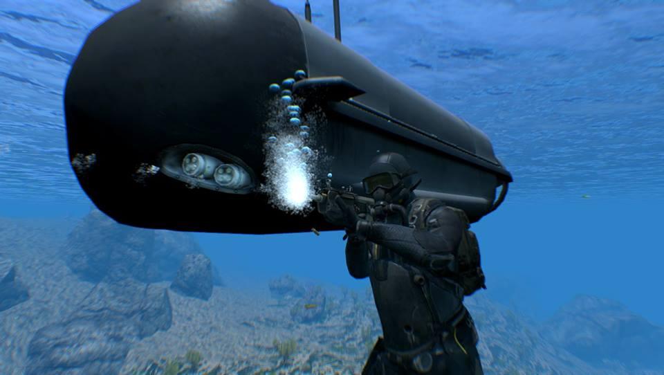 SDAR sedang bekerja di bawah air.