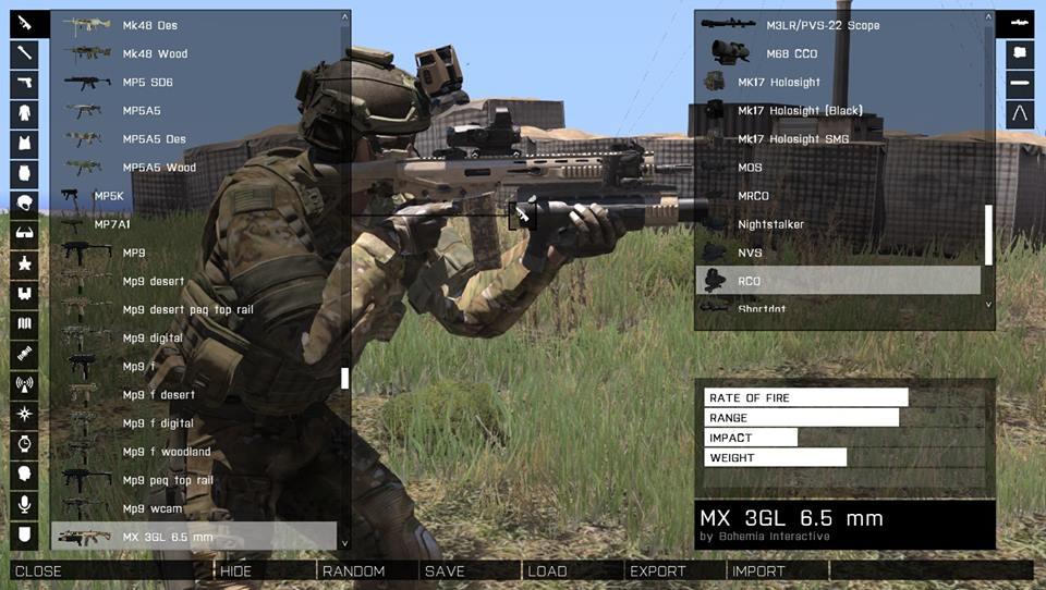MX 3GL ini awalnya hanya sebuah Rifle dengan pelotar granat tanpa aksesoris. Sekarang telah dimodifikasi supaya memberikan keuntungan di dalam medan pertempuran.