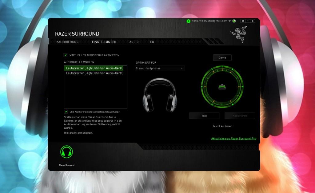 tampilan Razer Surround   sumber: chip.de