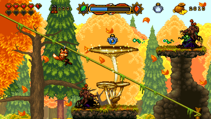 """Fox n Forest"": Game Indie Action Side-Scrolling, Kental Dengan Nuansa Nostalgia 16-Bit"