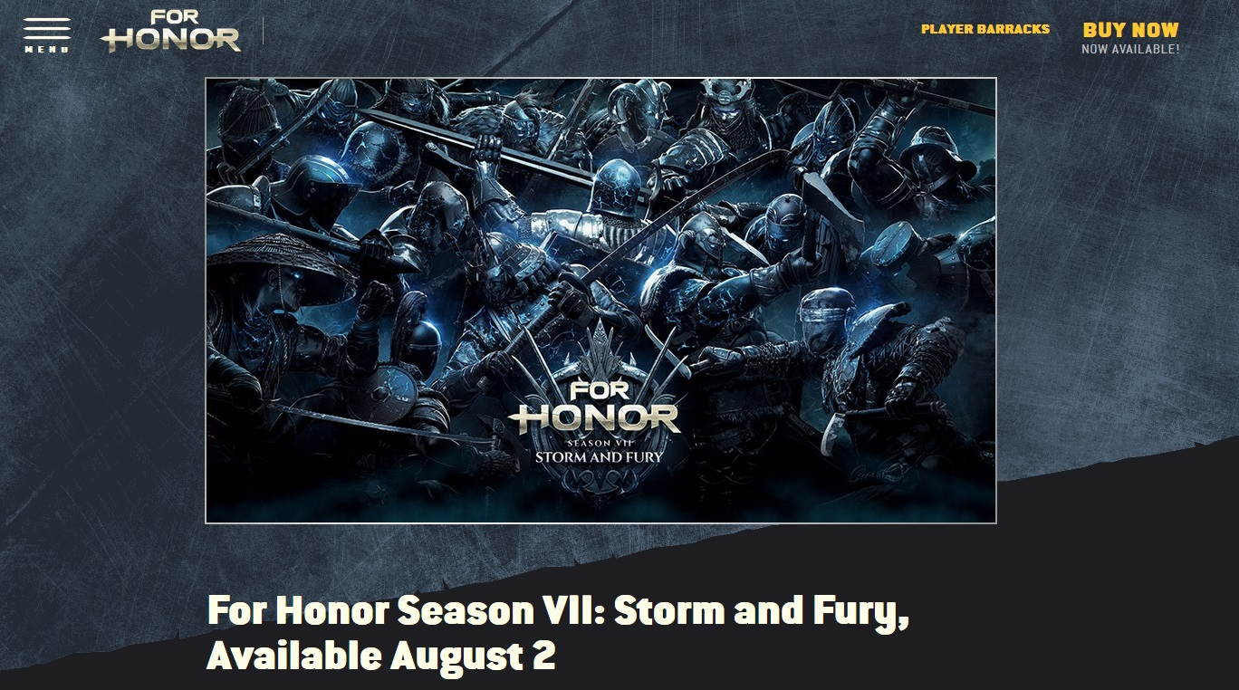 Update Season Vii For Honor Storm And Fury Siap Meluncur Awal Bulan Depan Gamebrott Com