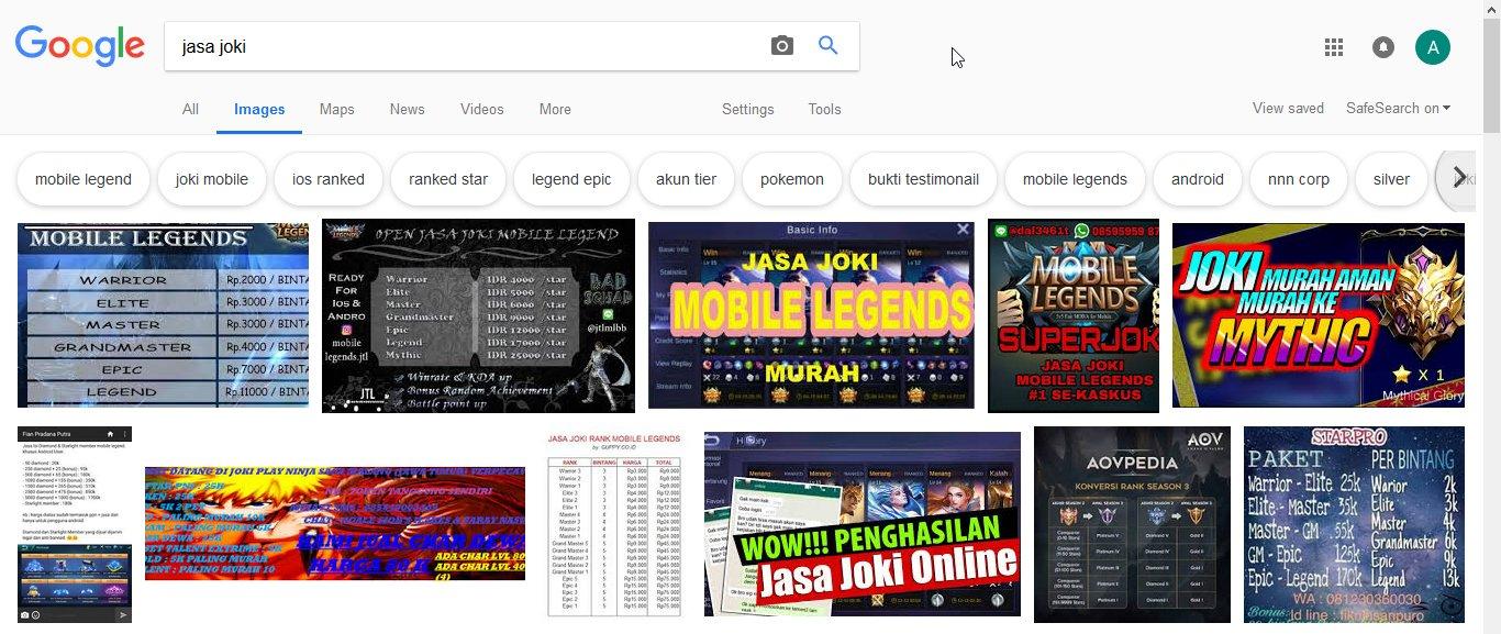 Googling Jasa Joki