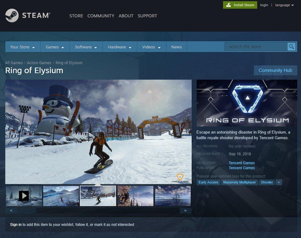 Game Battle Royale Ring of Elysium Segera Tuju Steam Akhir September