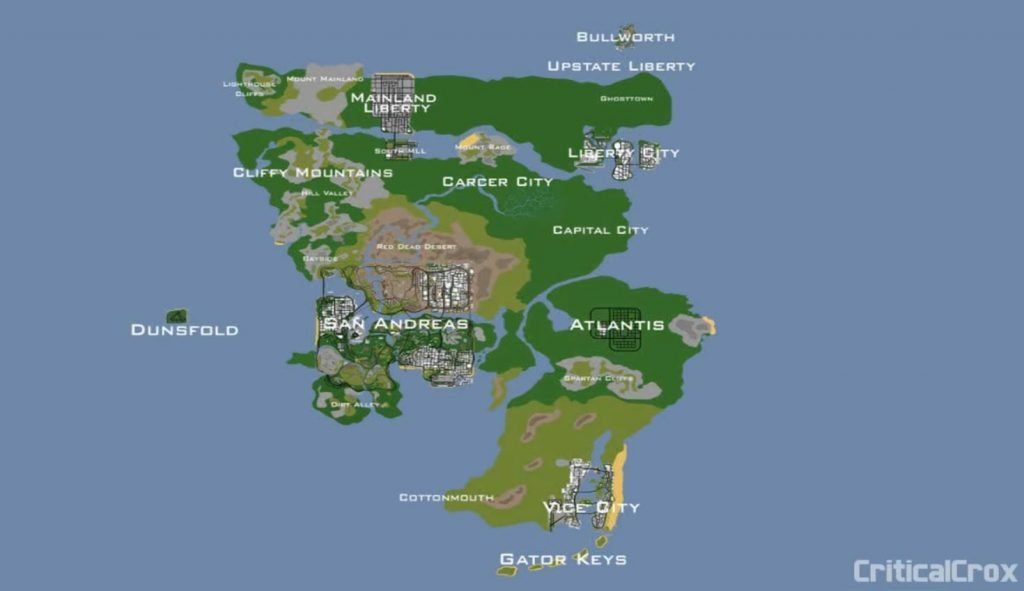 Modder ini Gabungkan Semua Map GTA Lawas, Bully, dan Manhunt