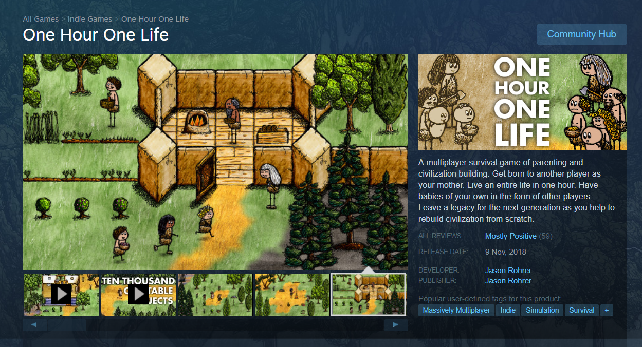 drawing game pc Game MMO Tentang Hidup Selama Sejam One Hour One Life Kini