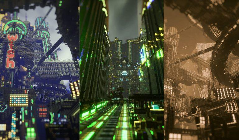 Gamer ini Buat Dunia Mengagumkan Ala Cyberpunk Di Dalam Minecraft Seorang Diri