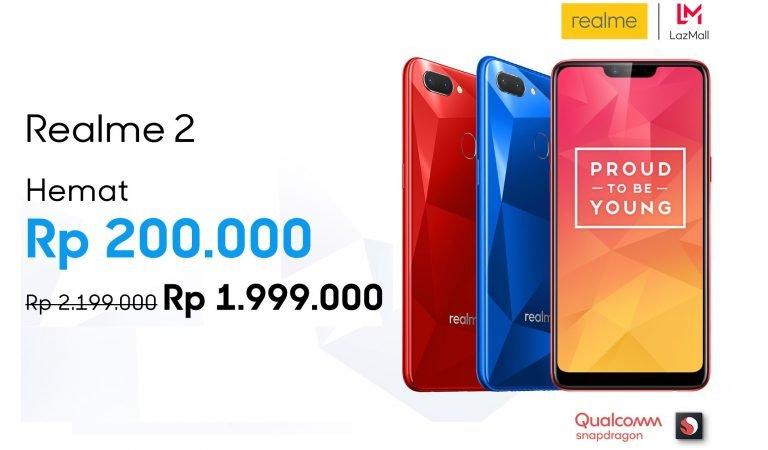 Realme Berikan Potongan Harga Menggiurkan untuk Realme 2 & Open Sales untuk Realme U1