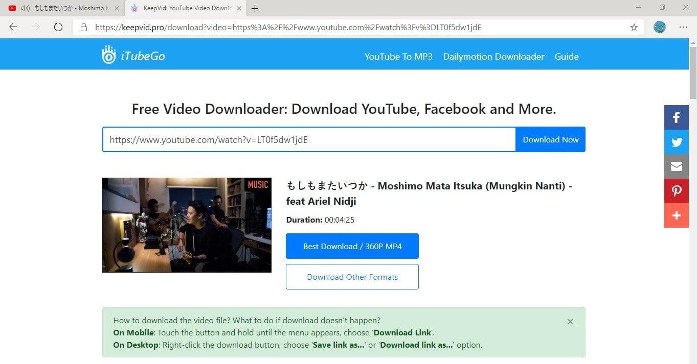 cara download video youtube ke pc