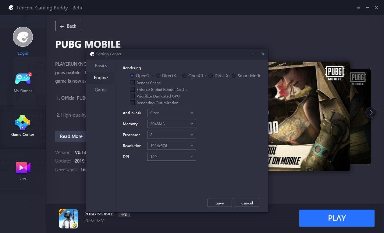 Setting PUBG M di Tencent Gaming Buddy untuk Laptop