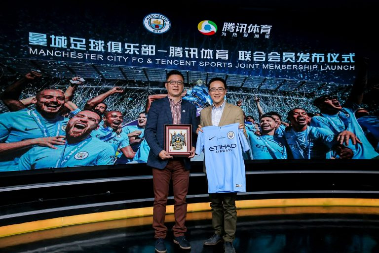 Image result for Tencent Jalin Kerja Sama dengan Manchester City