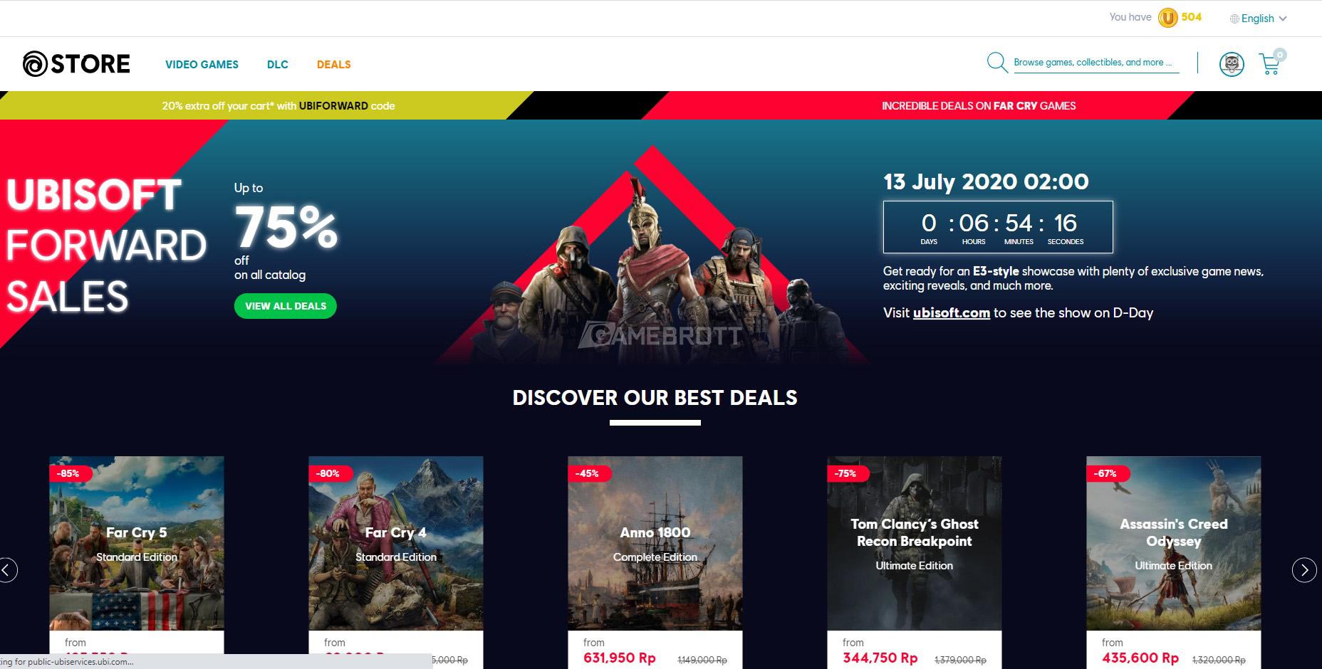 Cara Membeli Game Di Ubisoft Forward Via Kartu Debit Atm Gamebrott Line Today