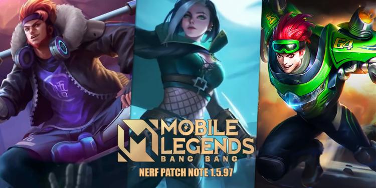 8 Hero ini Dapatkan Nerf Parah di Mobile Legends Patch Note 1.5.97, Jangan Khawatir Lagi