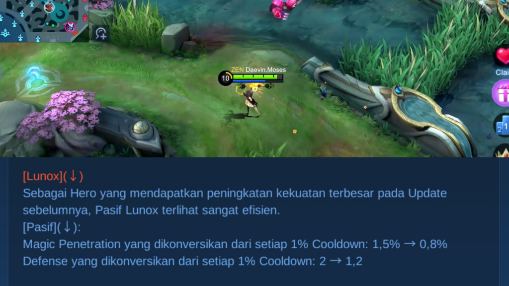 Nerf Lunox Mobile Legends Patch Note 1.5.97