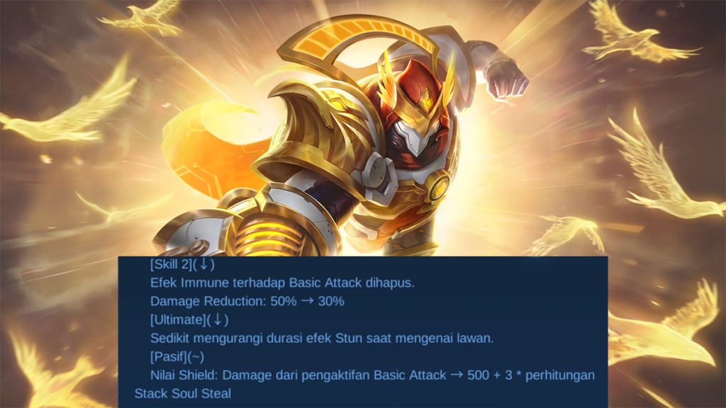 Aldous Nerf Patch Note 1.6.10