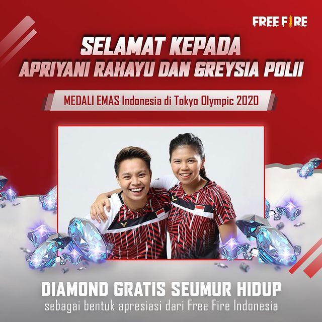 Greysia Polii Apriyani Rahayu Garena Free Fire