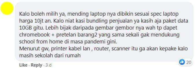 Laptop Merah Putih 2 A