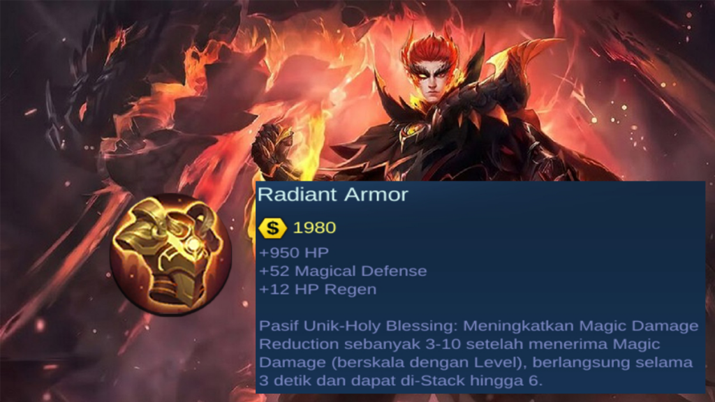 Pasif Unik Radian Armor item magic defense