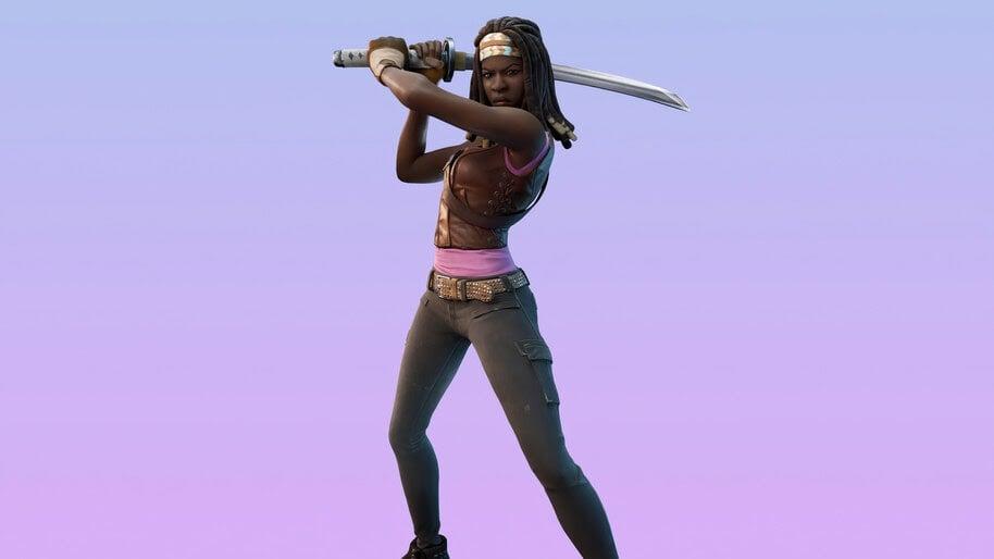 Fortnite Michonne Skin Outfit Uhdpaper.com 4k 8.2412 Wp.thumbnail