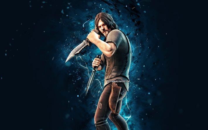 Thumb2 Daryl Dixon 4k Blue Neon Lights Fortnite Battle Royale Fortnite Characters