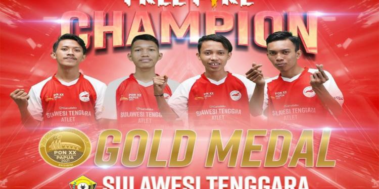 Ini Juara di Eksibisi Esports PON XX Papua 2021 Divisi Free Fire