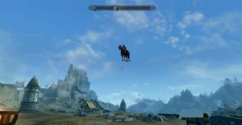 Gamer Temukan Kuda Terbang Di Skyrim 1