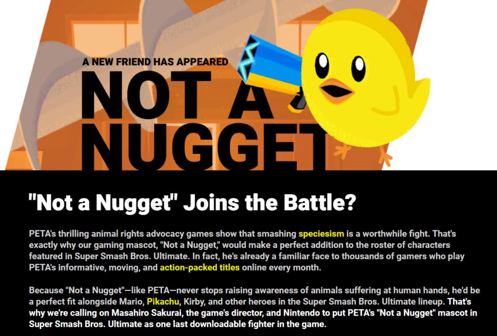 Super Smash Bros Ultimate PETA