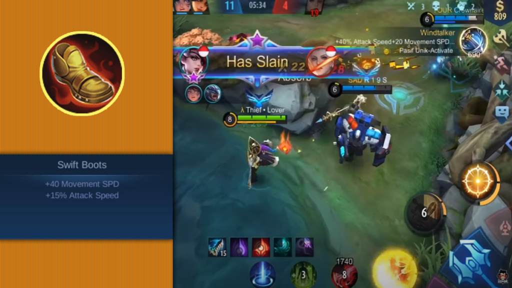 Swift Boots build lesley