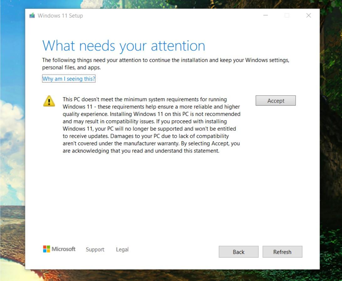 Waiver Windows 11